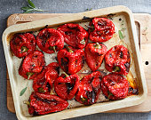 Baked red peppers