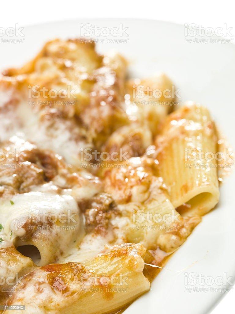 Rigatoni al forno stock photo