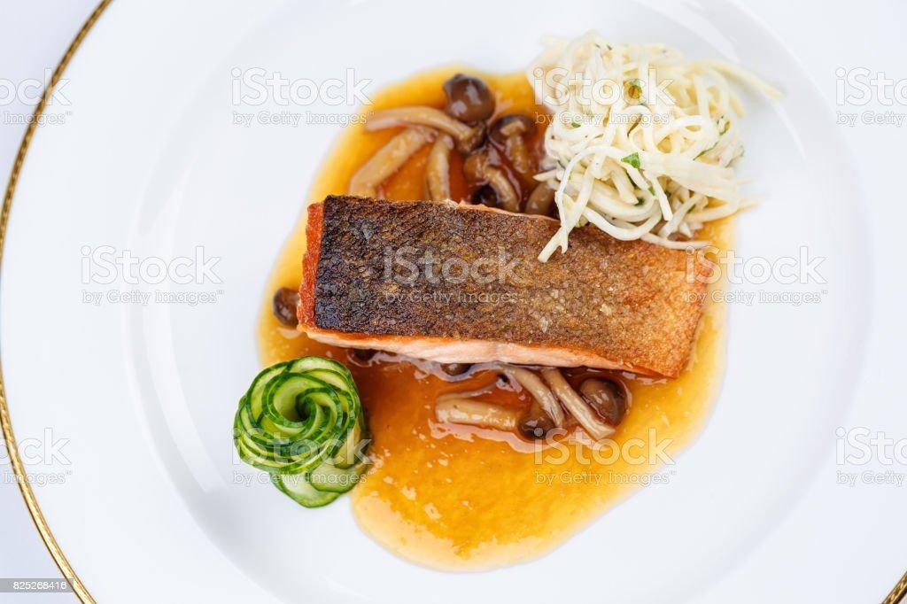 Baked Salmon fillet stock photo