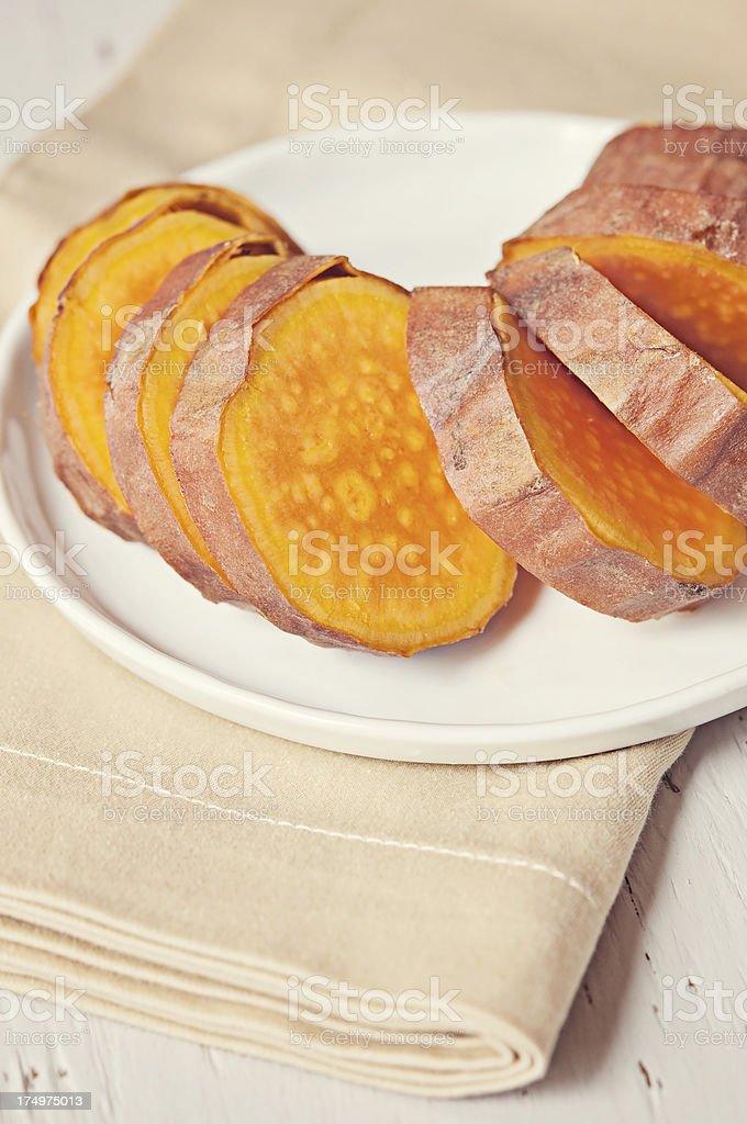 Baked sweet potato royalty-free stock photo