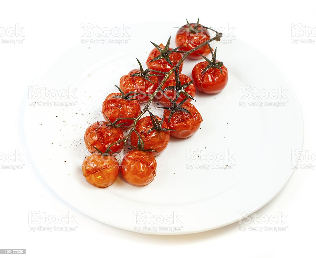 Baked tomatoes royalty-free stock photo
