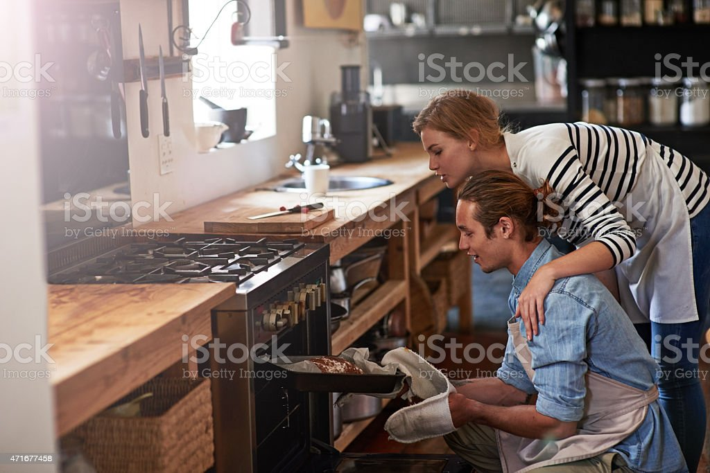 Baked with love stock photo