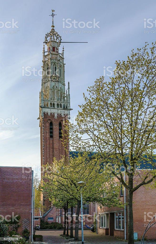 Bakenesserkerk, Haarlem, Netherlands stock photo