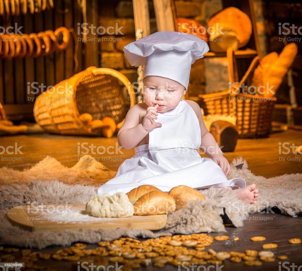 Baker Baby stock photo