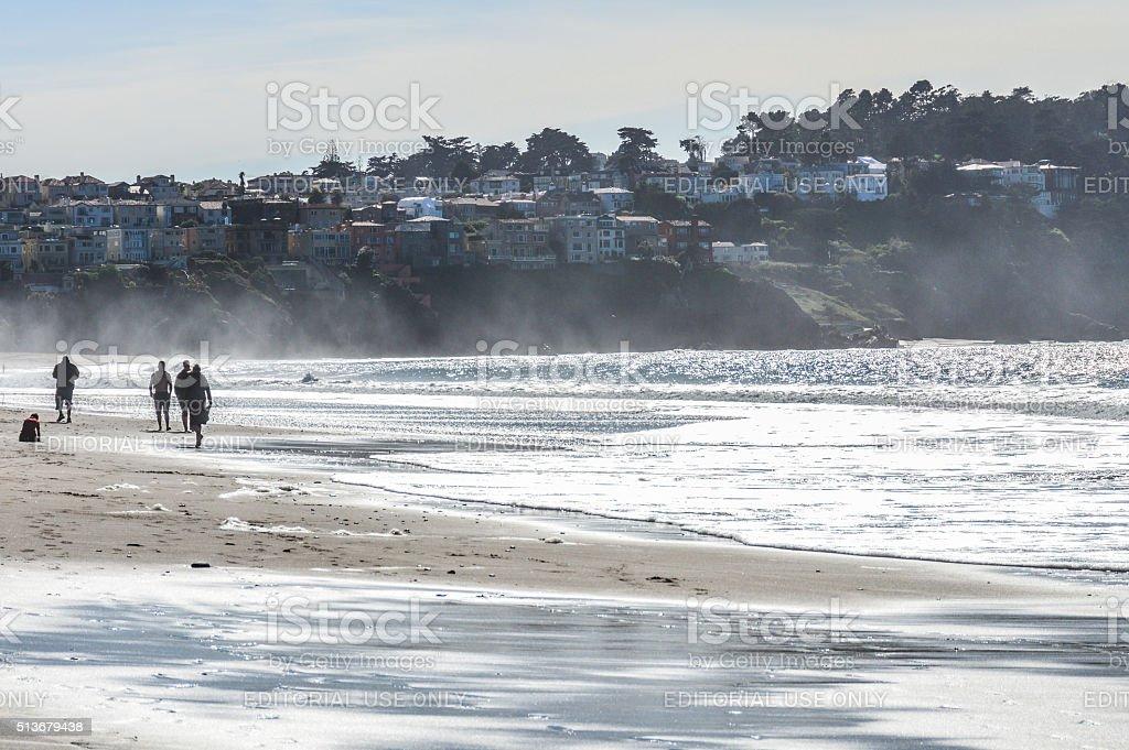 Baker Beach coastal community - San Francisco, CA stock photo