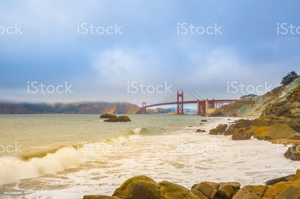 Baker Beach San Francisco stock photo