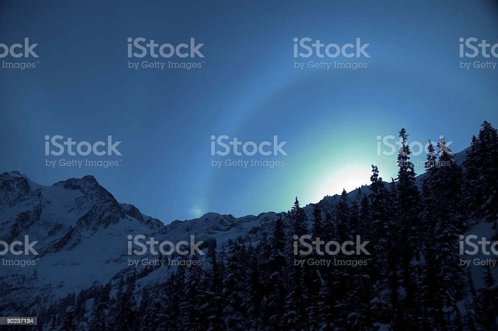 Baker - Eerie Light over the ridge royalty-free stock photo