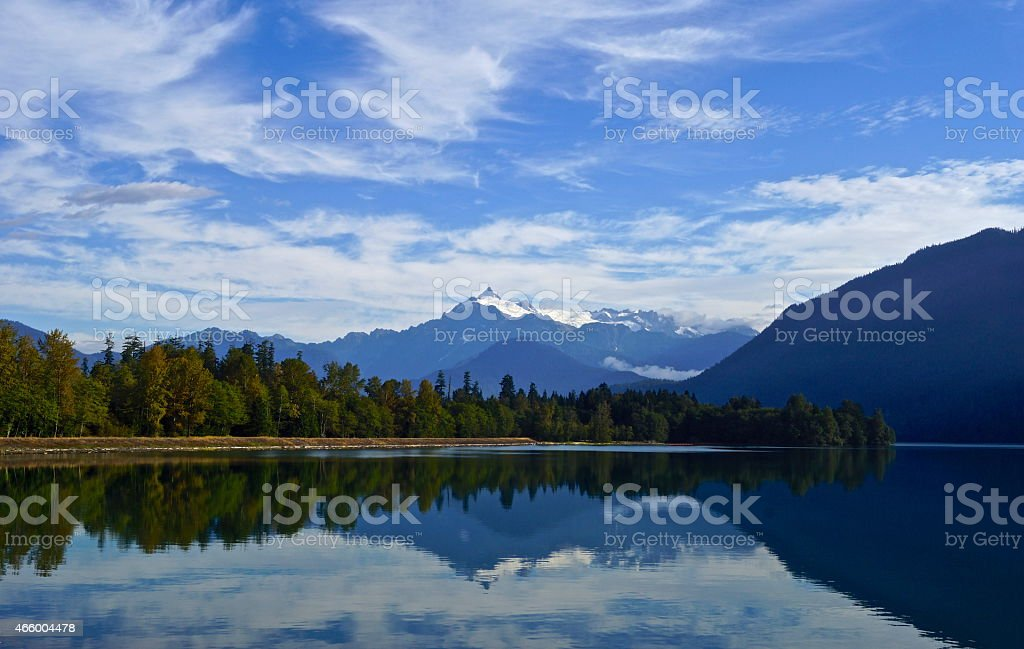 Baker Lake Mirror stock photo
