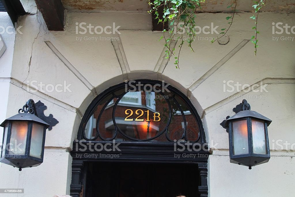 221B Baker Street, London stock photo