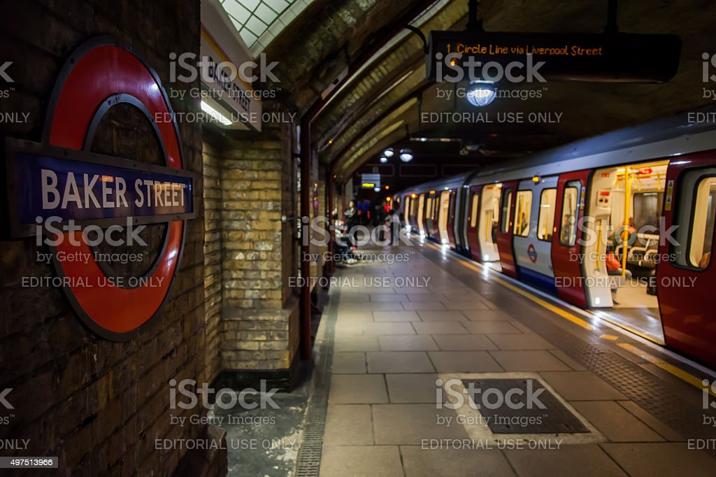 Baker Street London Underground Station stock photo