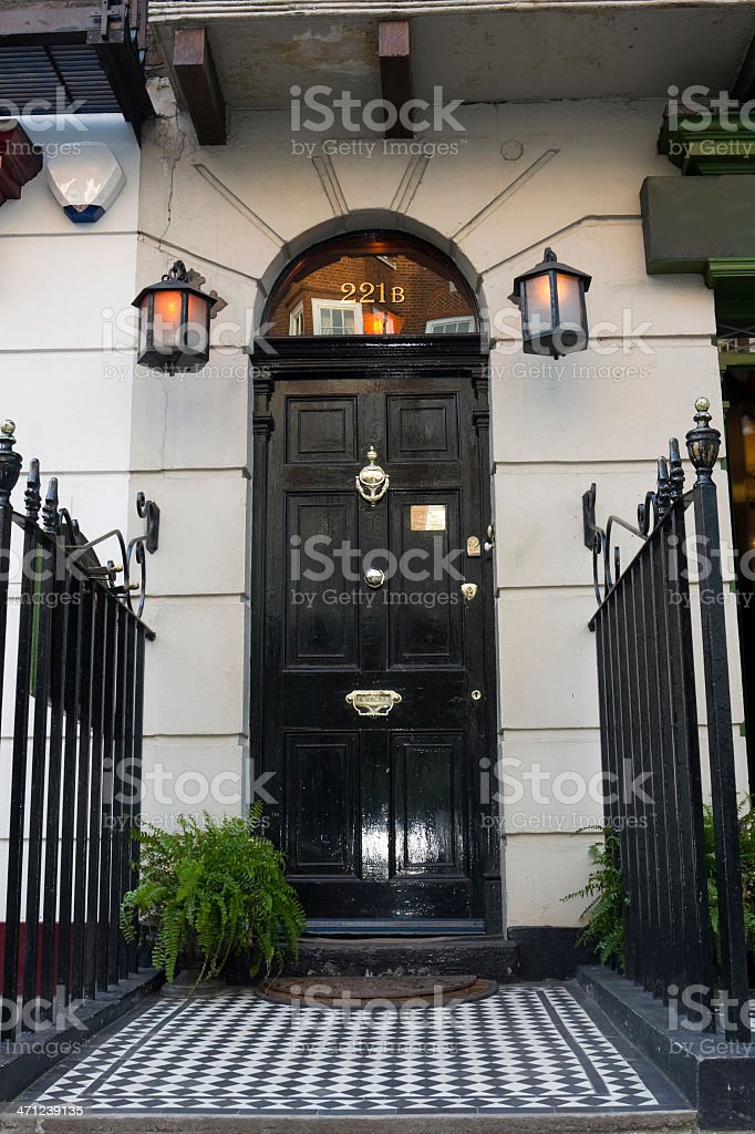 221B Baker Street stock photo
