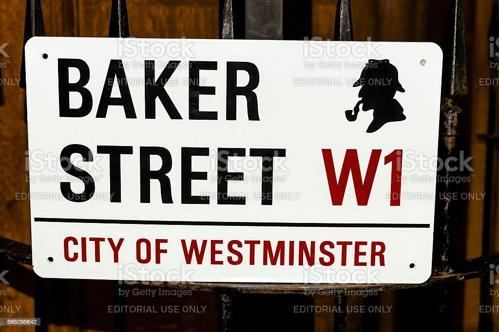 Baker Street sign in London, UK stock photo