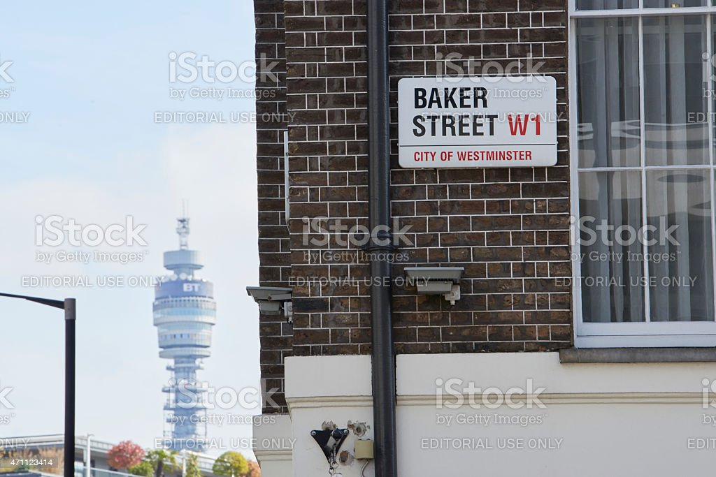 Baker Street sign stock photo