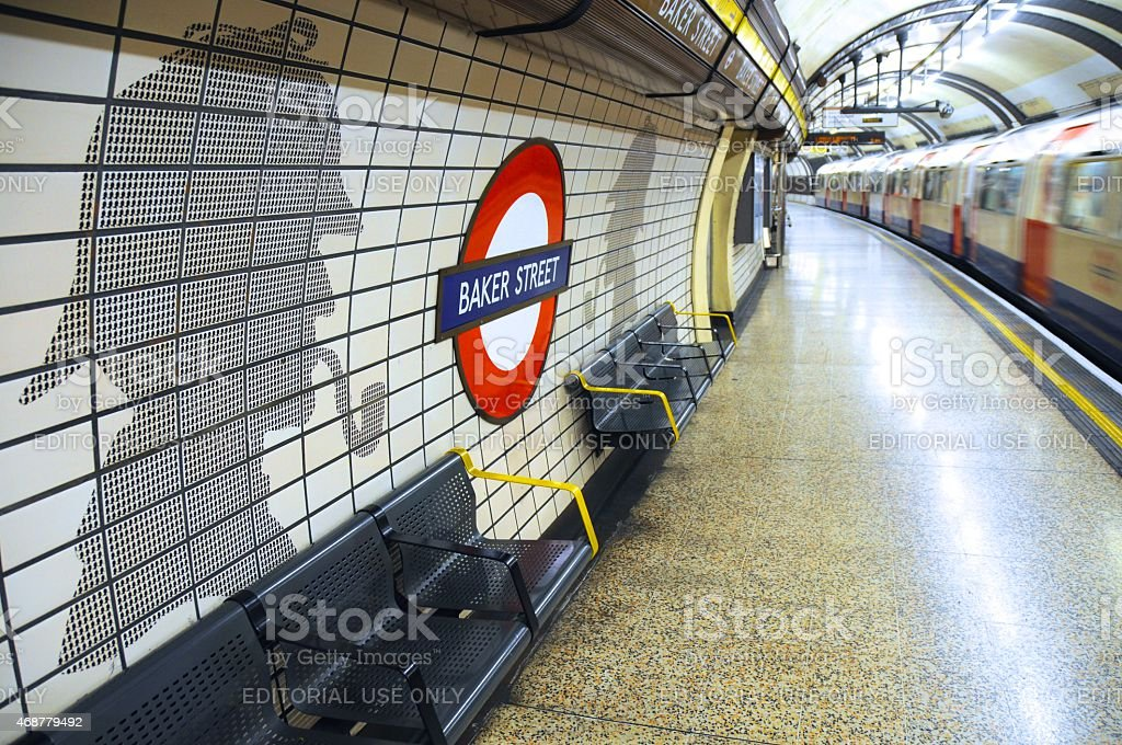 Baker Street tube station in London, UK stock photo