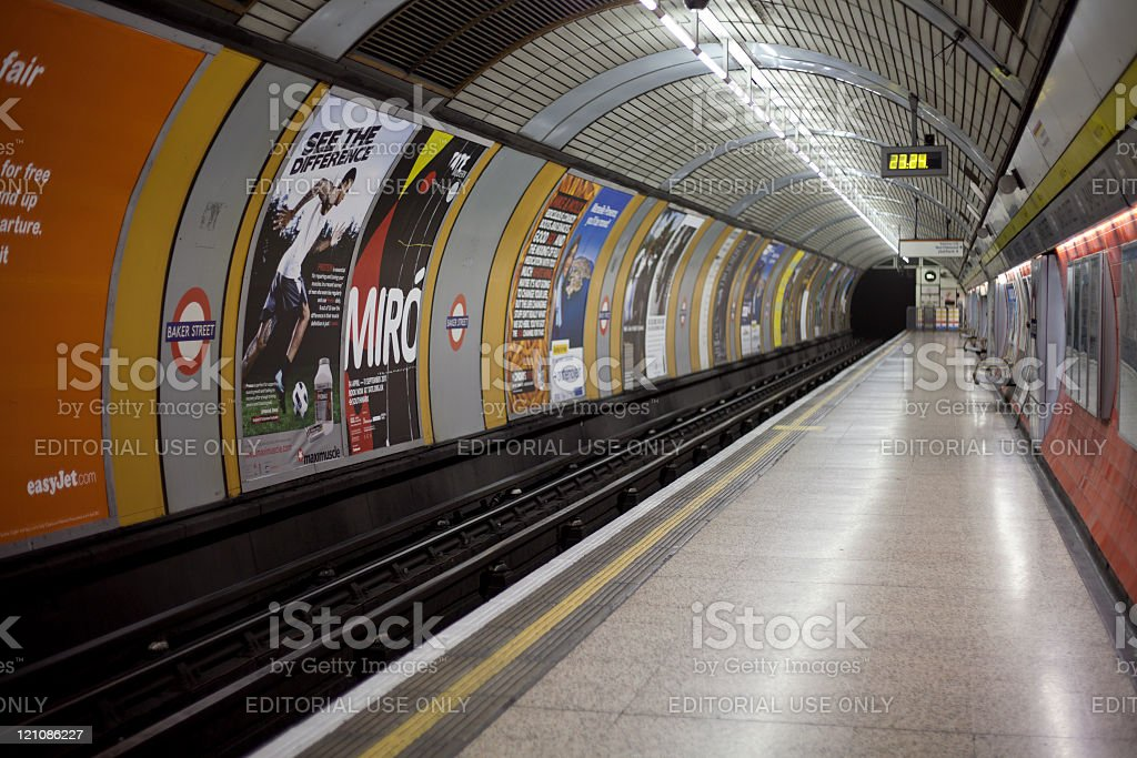 Baker Street Tube Station, London, England - 2 May, 2011 stock photo