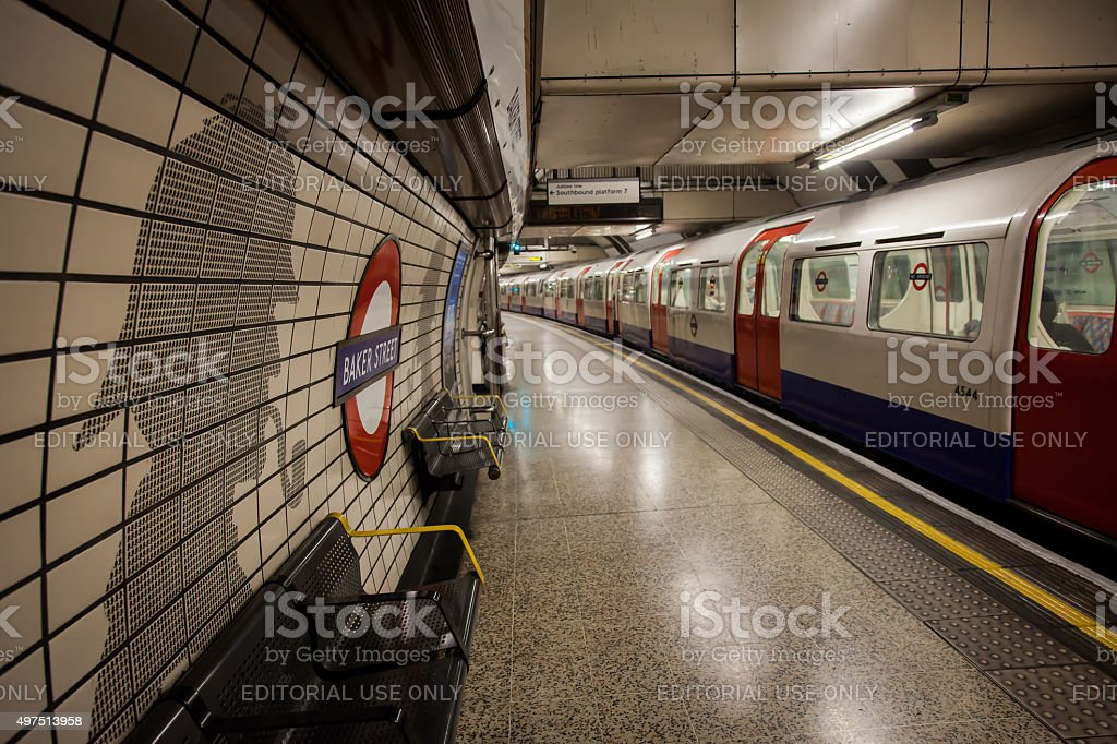 Baker Street Tube Station London stock photo