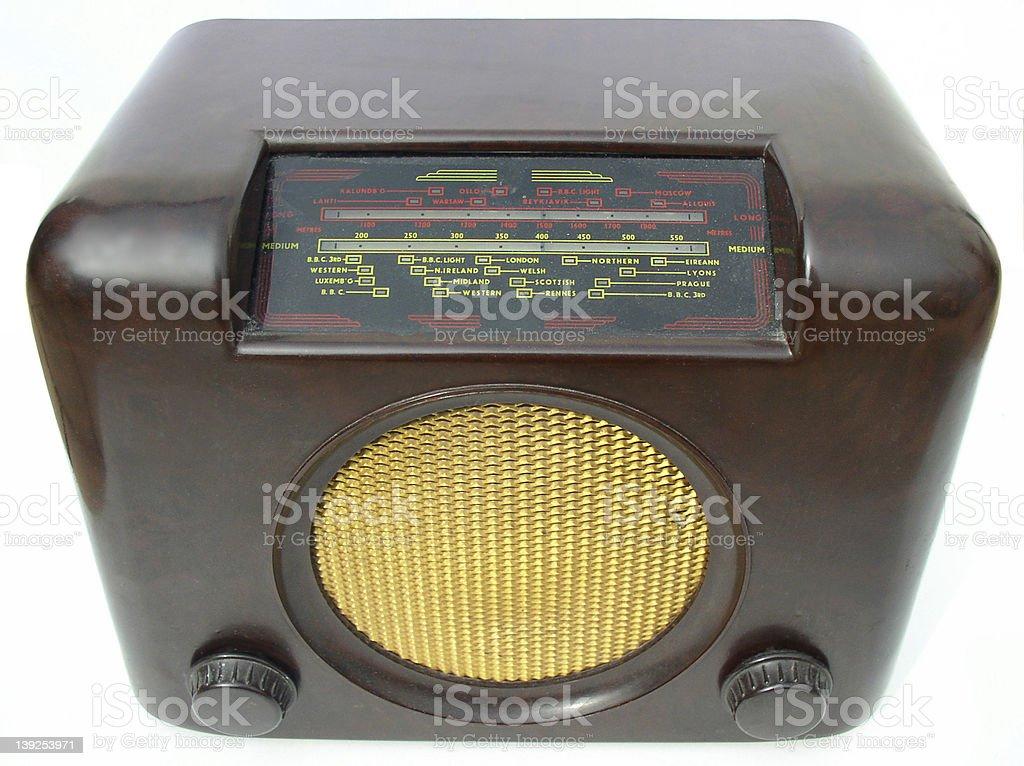 Bakerlite radio stock photo