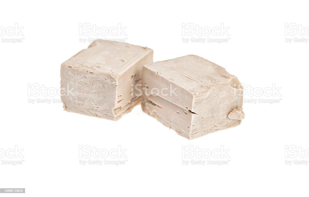 Baker's Yeast isolated on white. stock photo
