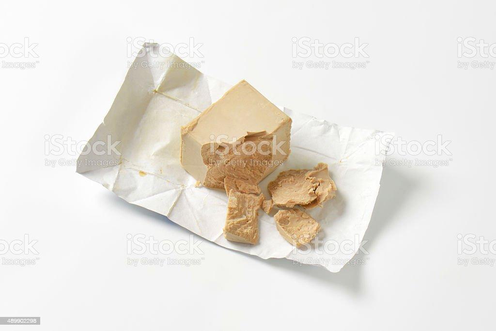 Baker's yeast stock photo