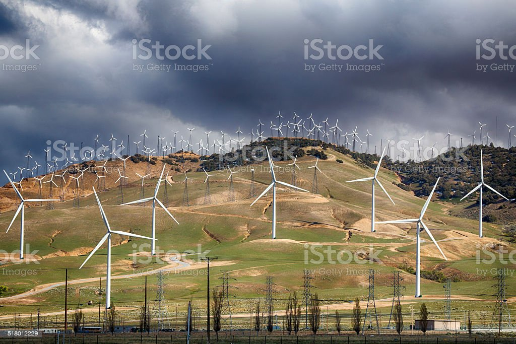 Bakersfield Wind Farm stock photo