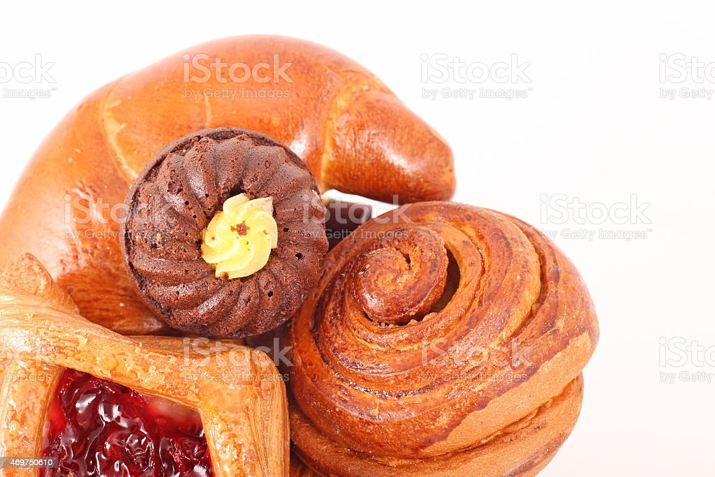 Bakery foodstuffs assortment stock photo