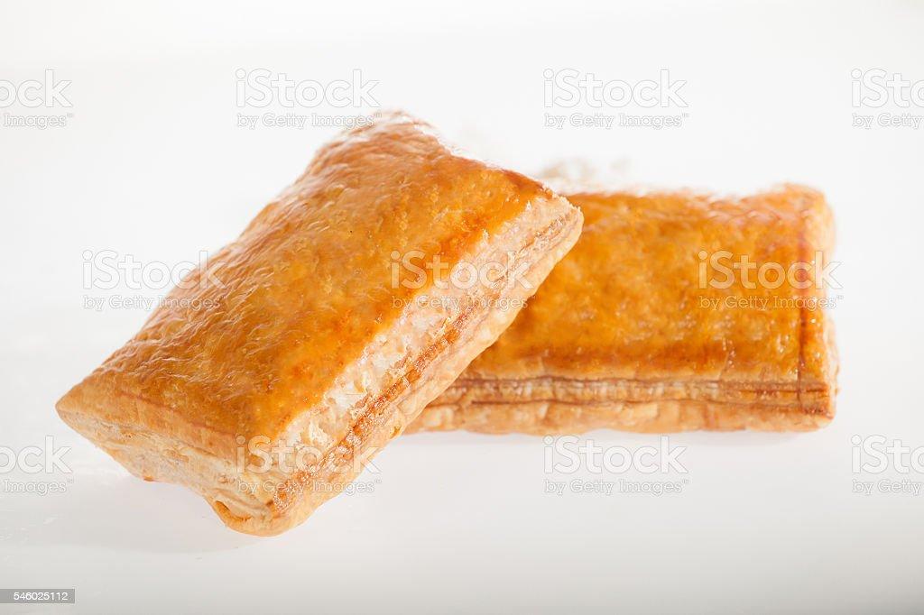 Bakery isolated food products on white background stock photo
