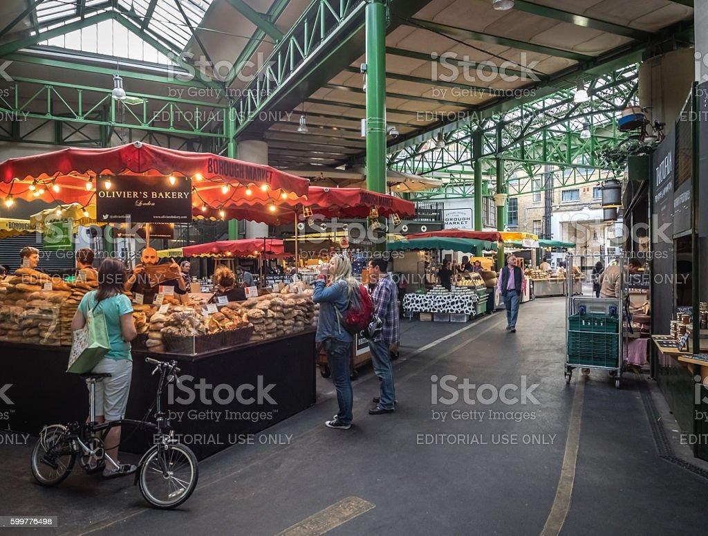 Bakery on Borough market stock photo