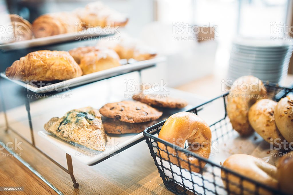 Bakery Pastries and Bagels stock photo