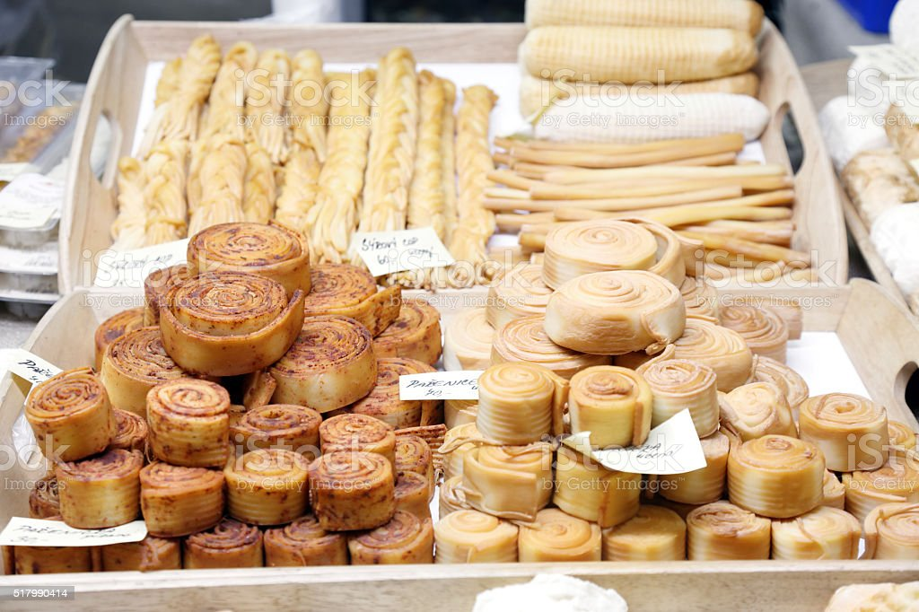 Bakery products on the Easter fair in Prague stock photo
