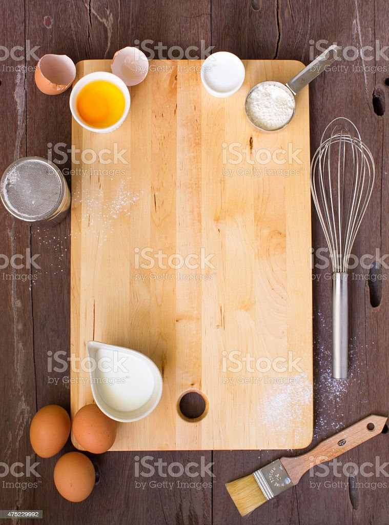 Bakery theme background stock photo