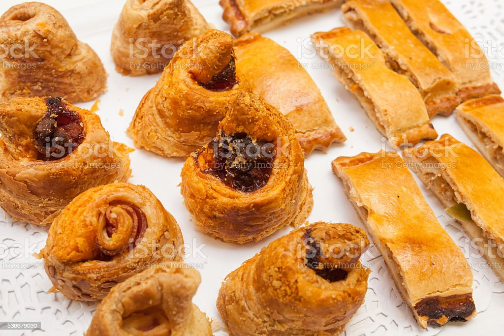 bakery vegeterian cakes and pies stock photo