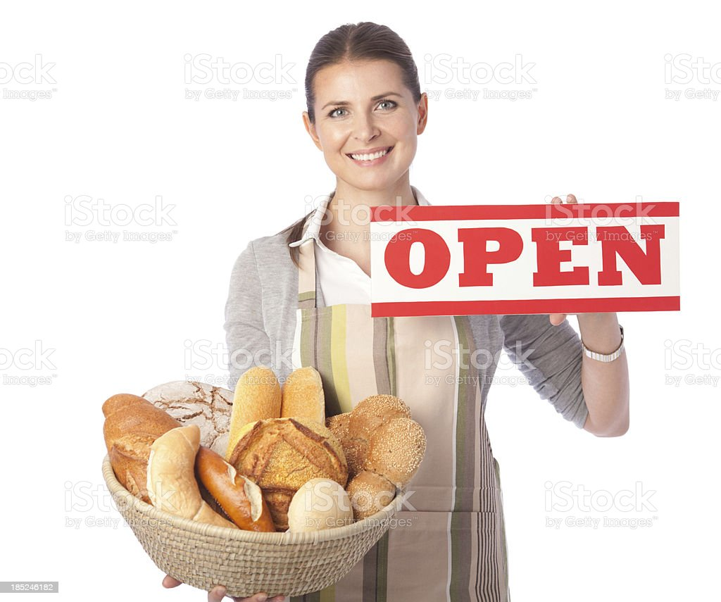 Bakery worker. royalty-free stock photo