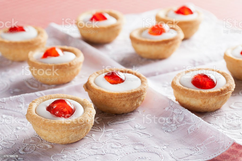 Bakewell Pastries stock photo