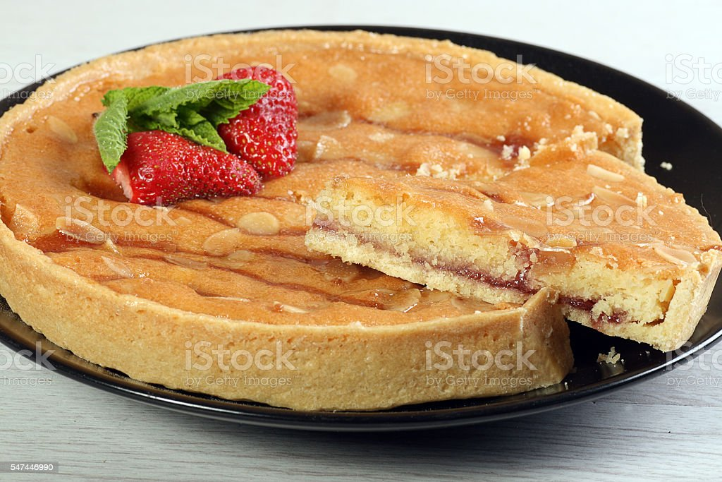 bakewell pudding stock photo