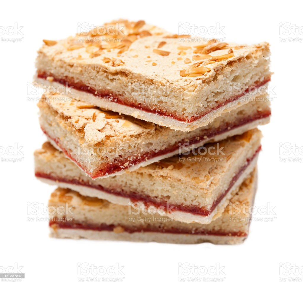 Bakewell slice stock photo