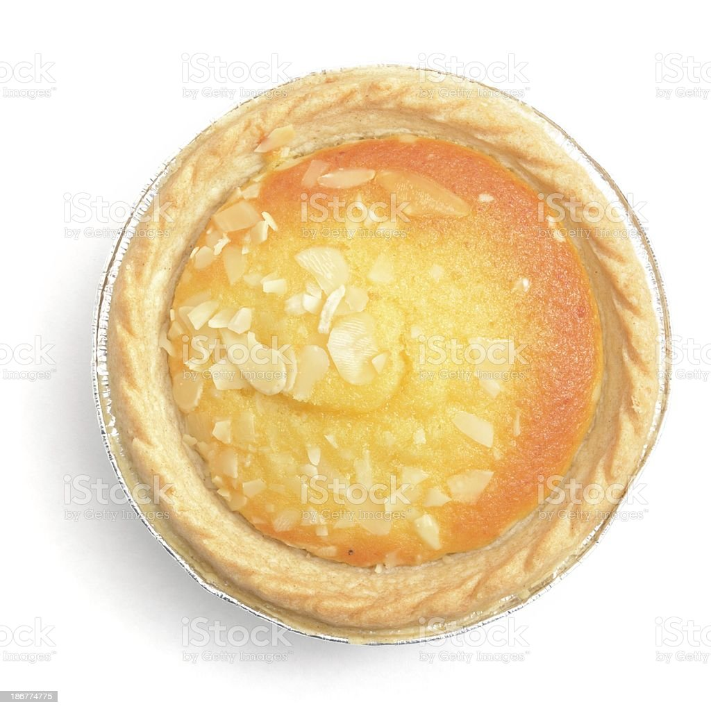 Bakewell tart(cased) from above stock photo