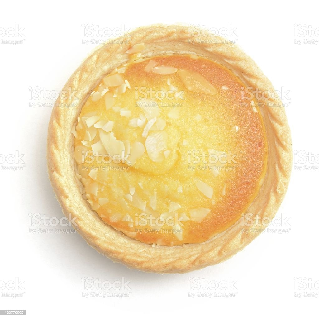 Bakewell tart from above stock photo