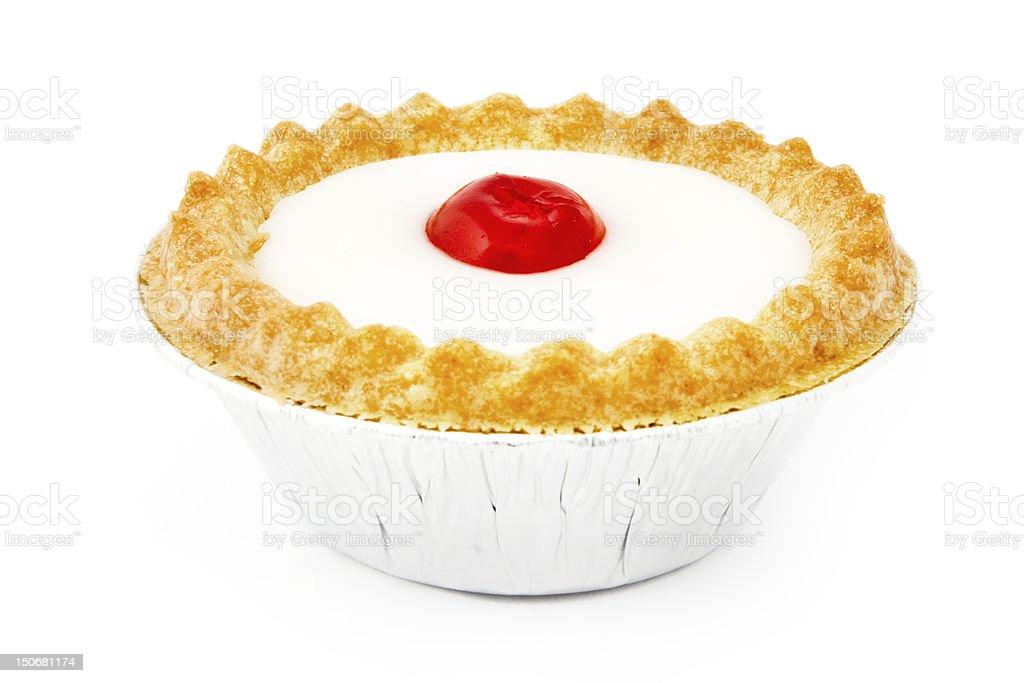 Bakewell tart over white royalty-free stock photo