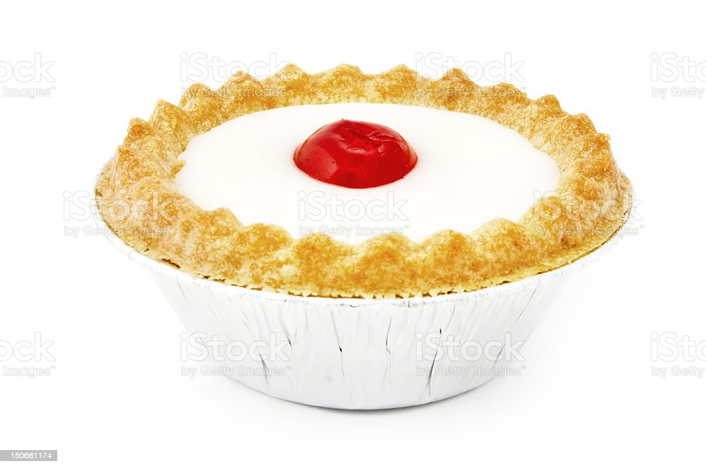 Bakewell tart over white stock photo