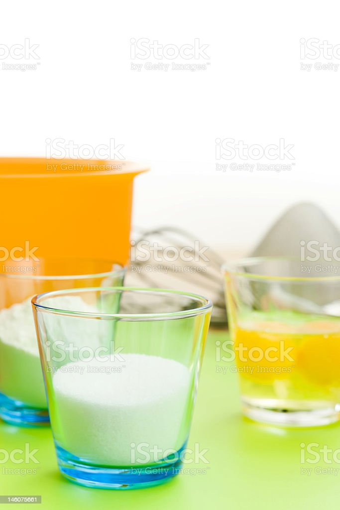 Baking a cake royalty-free stock photo