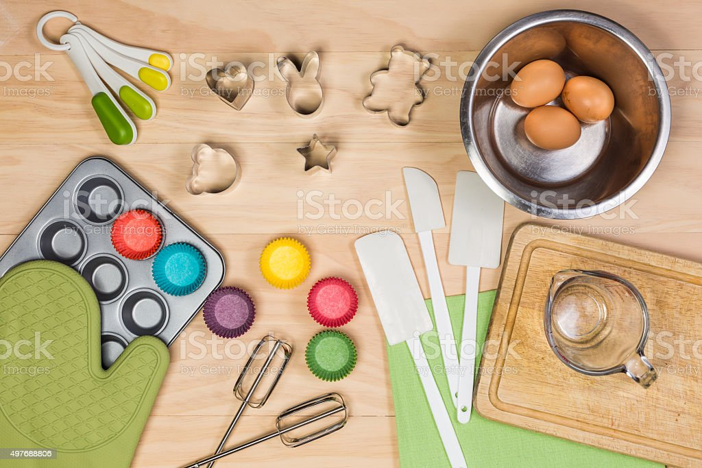 baking and pastry tools stock photo