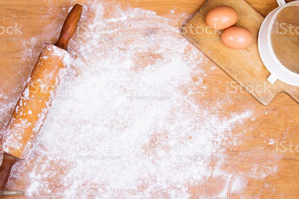 baking background stock photo