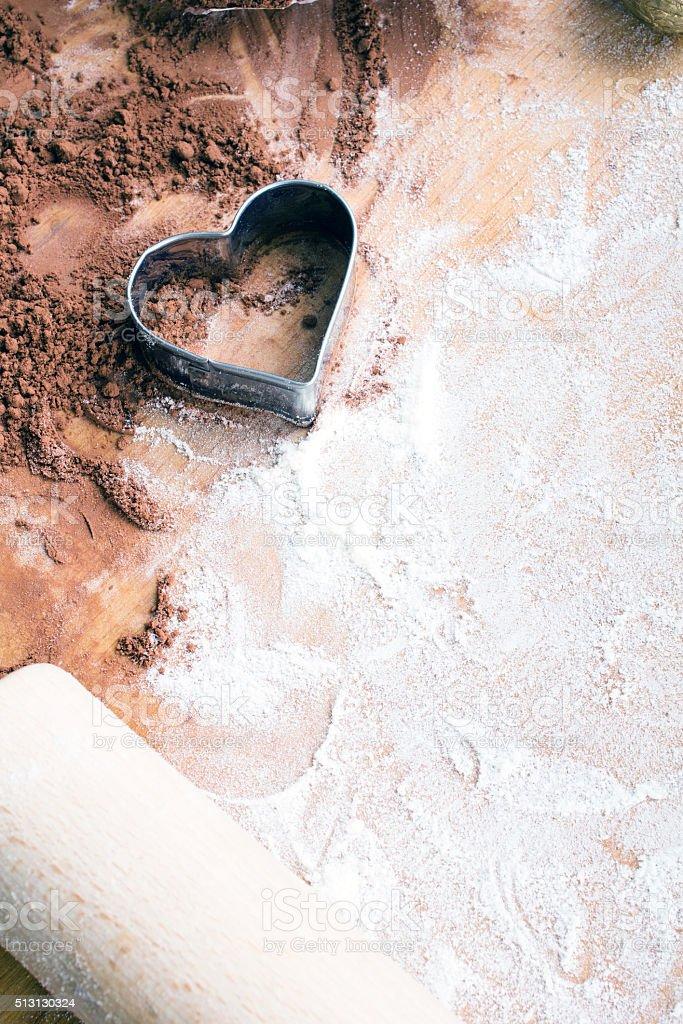 baking background:  preparing cookies stock photo