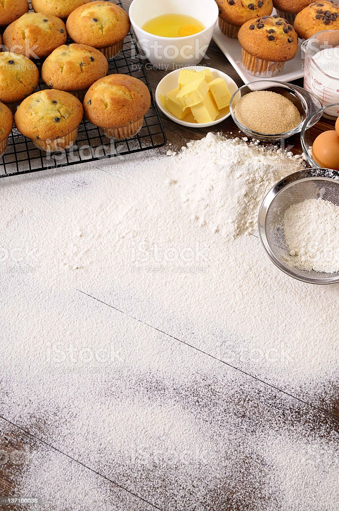 Baking background with ingredients royalty-free stock photo