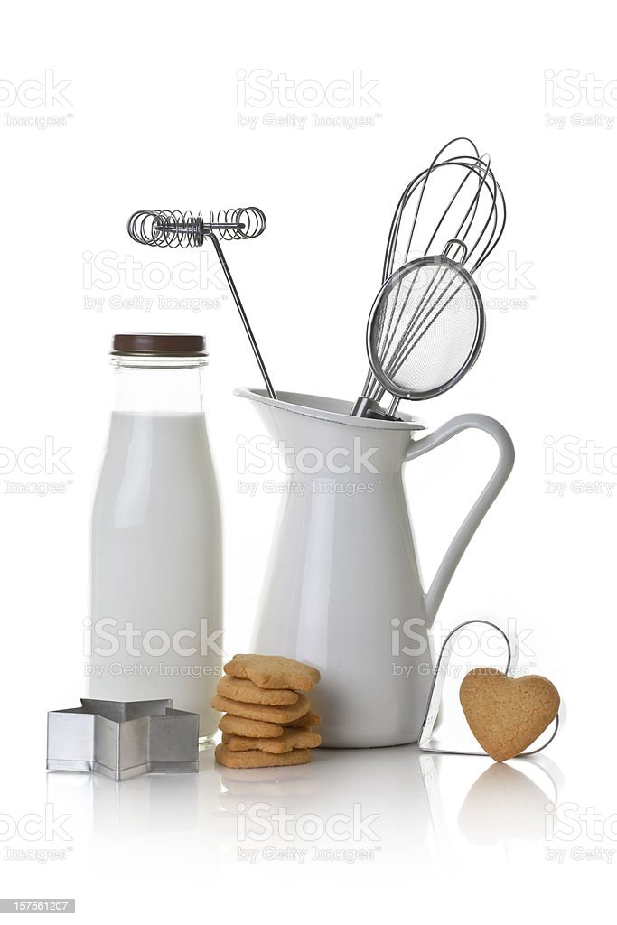 Baking biscuits stock photo