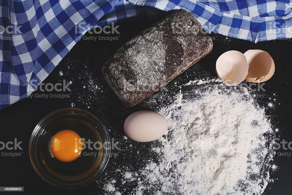 baking bread stock photo