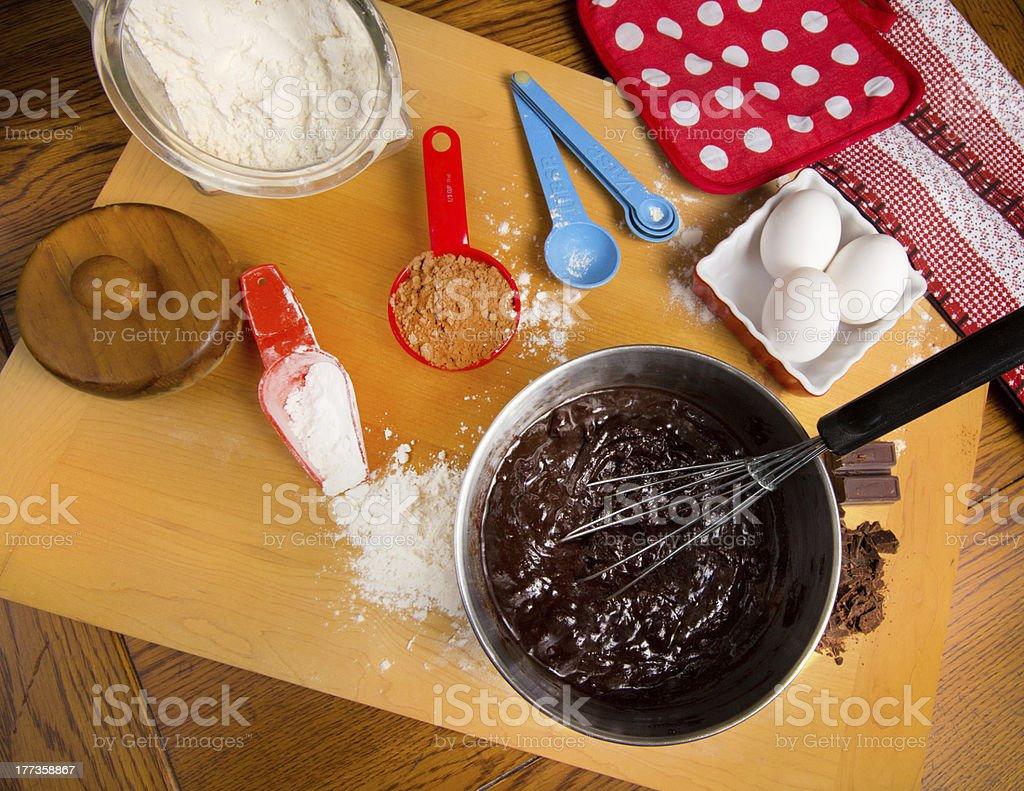 Baking Brownies royalty-free stock photo