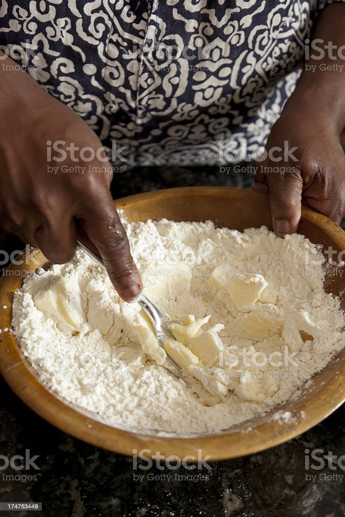 Baking - Butter and Flour royalty-free stock photo
