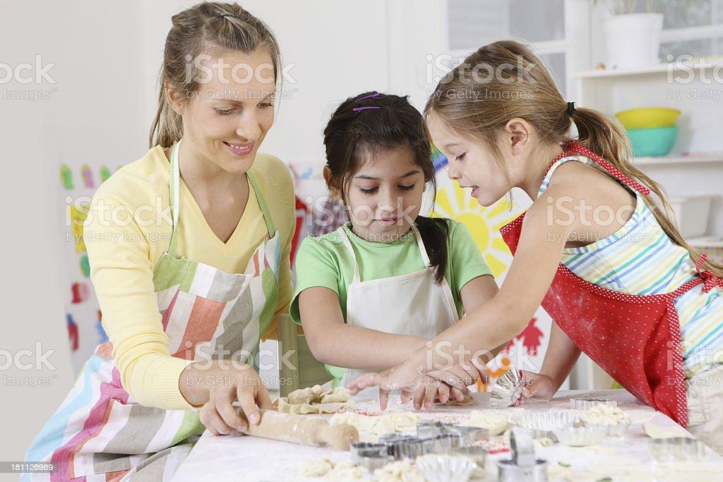 baking children royalty-free stock photo