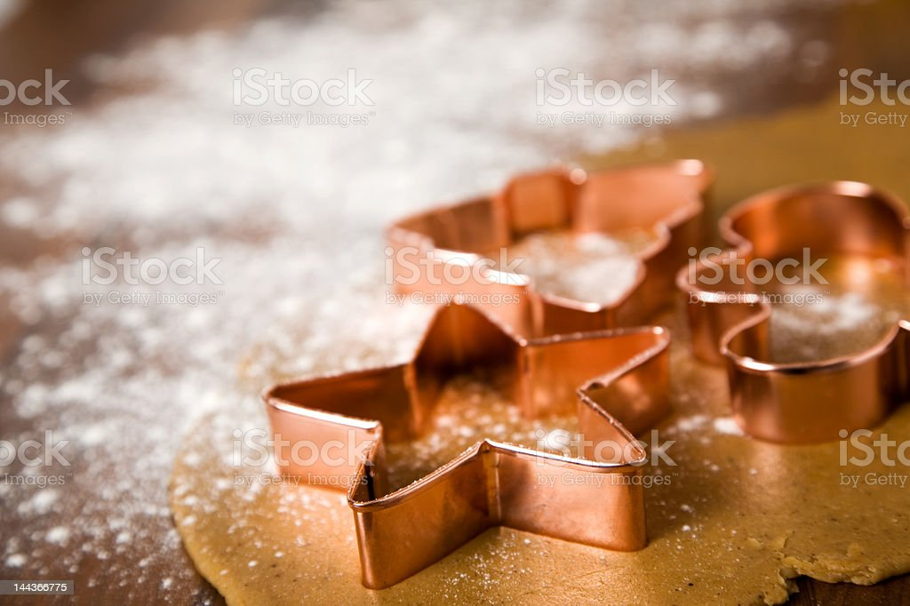 Baking christmas cookies royalty-free stock photo